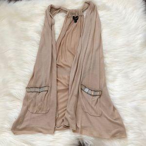 [3/$19 special] Tan Tunic Sweater Racerback Vest